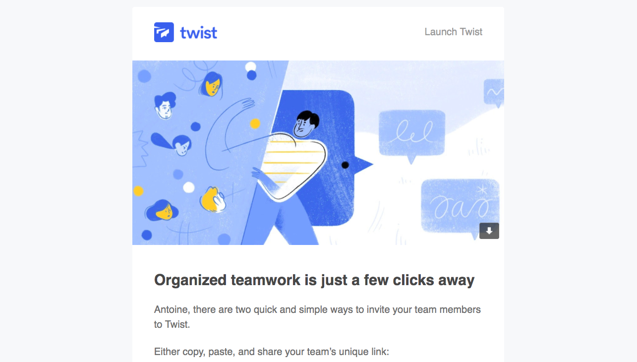 Twist Onboarding Emails