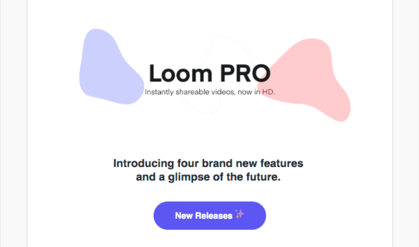 Loom new feature email