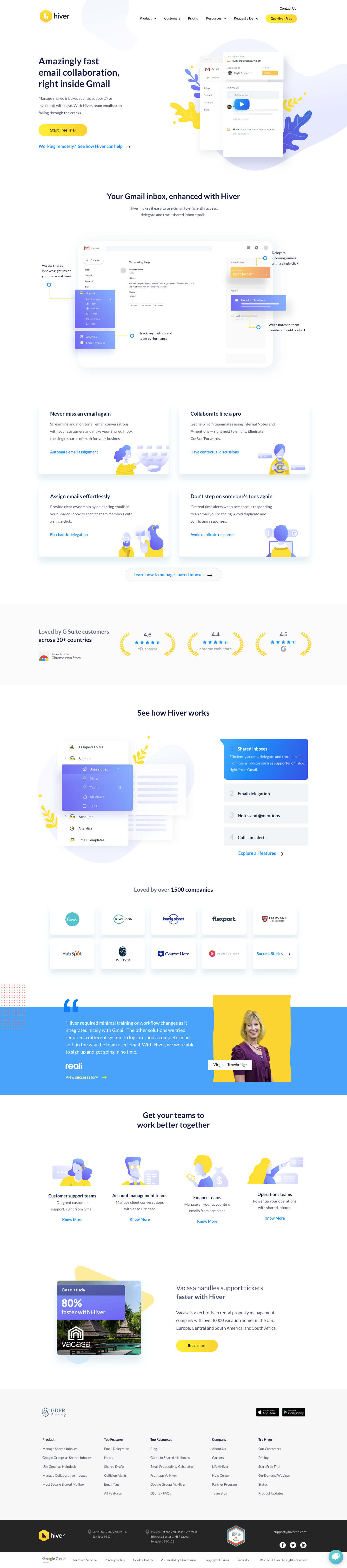 Hiver Landing Page