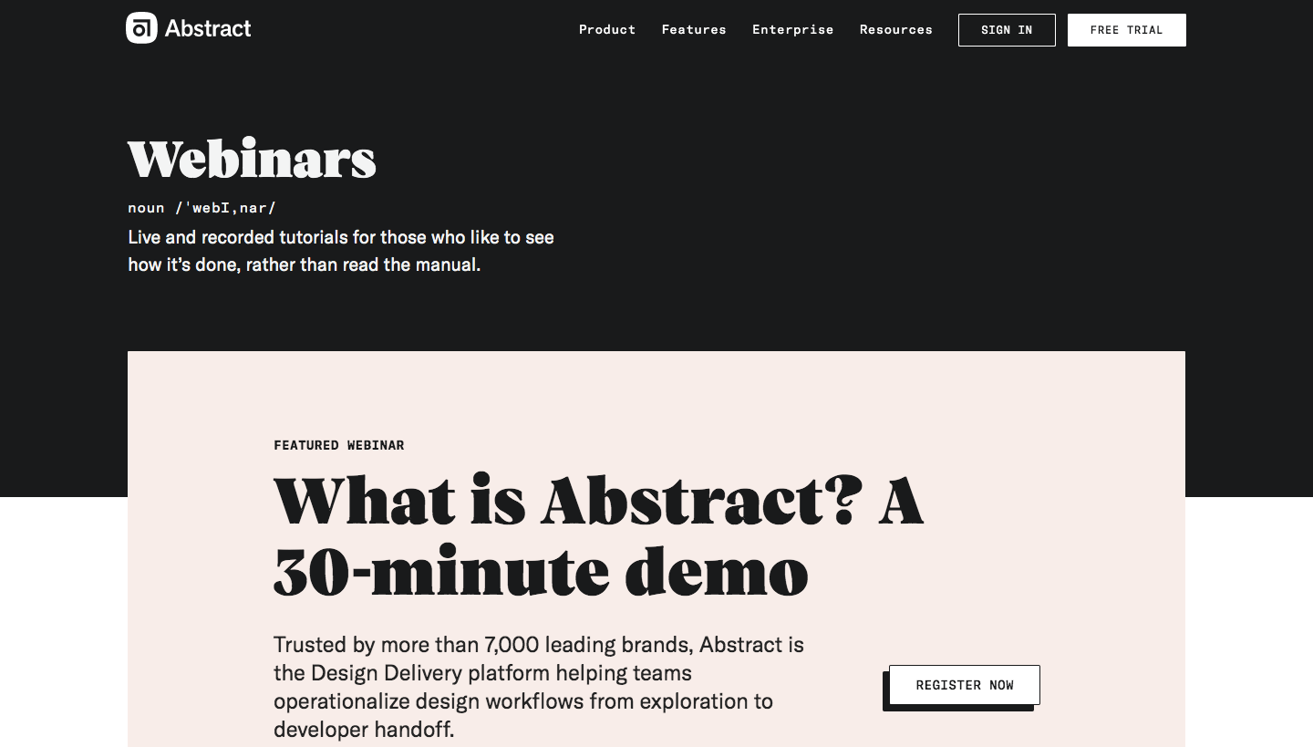 Abstract Webinars Page