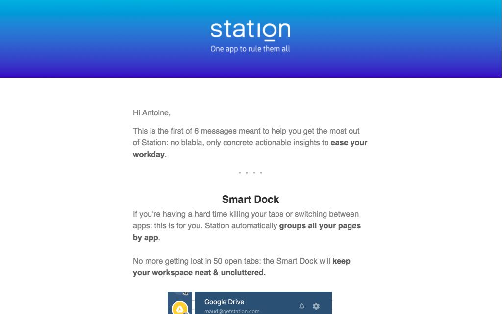 Station Onboarding Emails