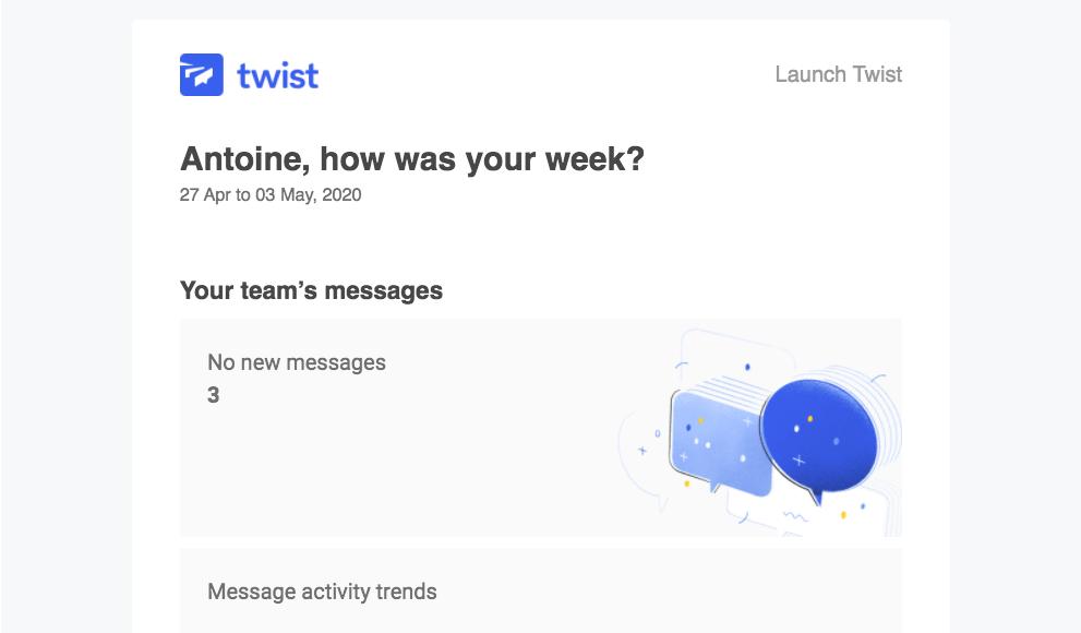 Twist Weekly Stats