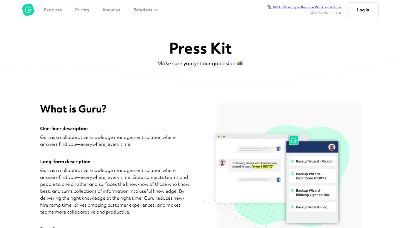 Guru Press Page