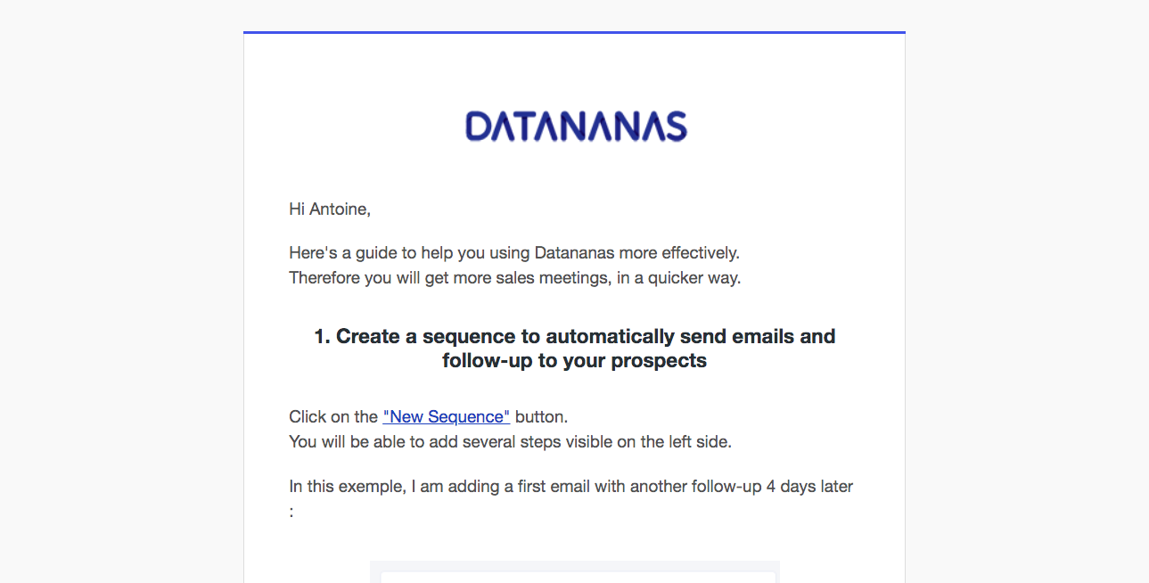 Datananas Onboarding Emails