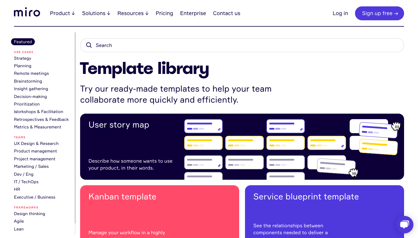 Miro Template Library