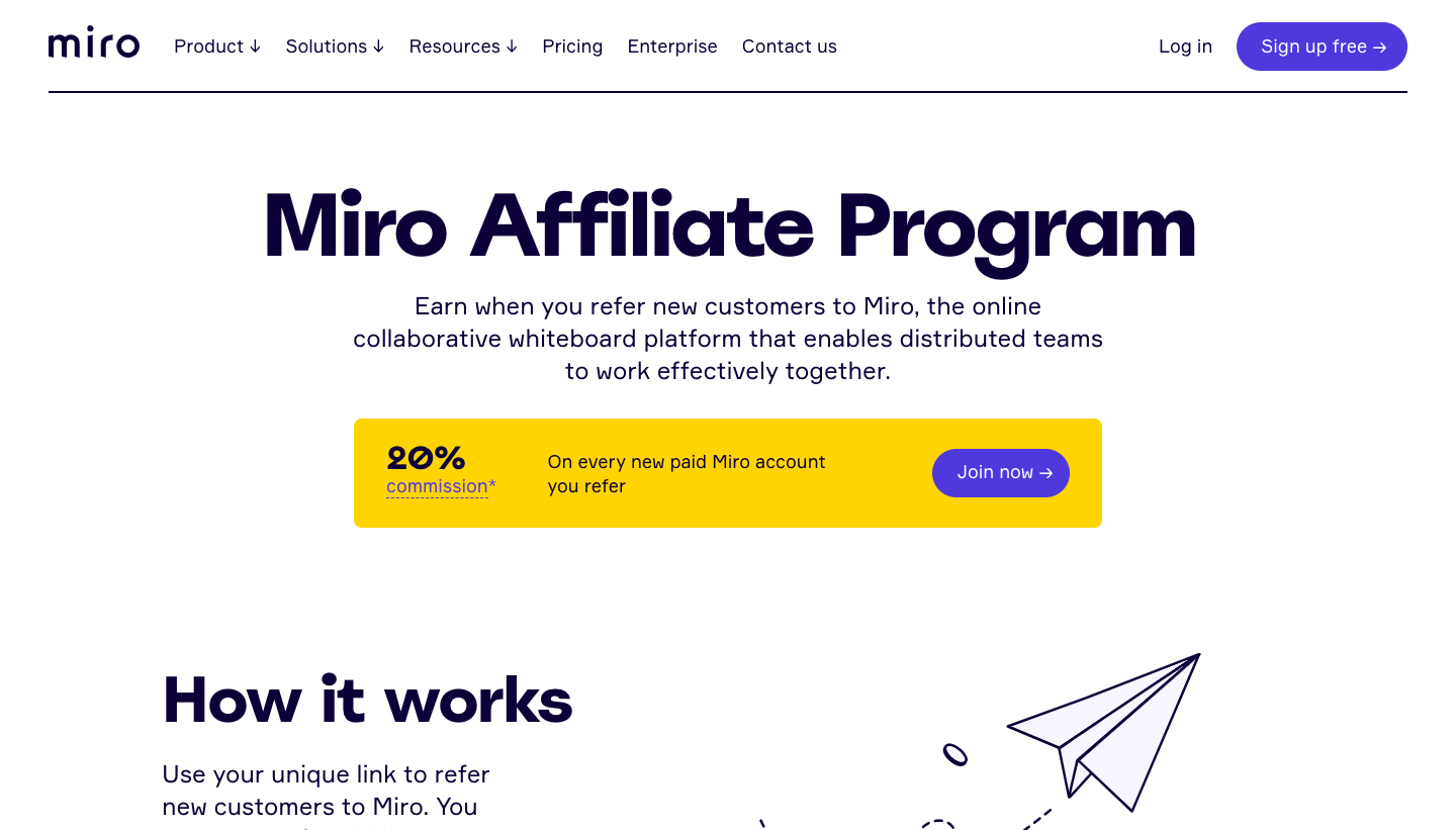 Miro Affiliate Page