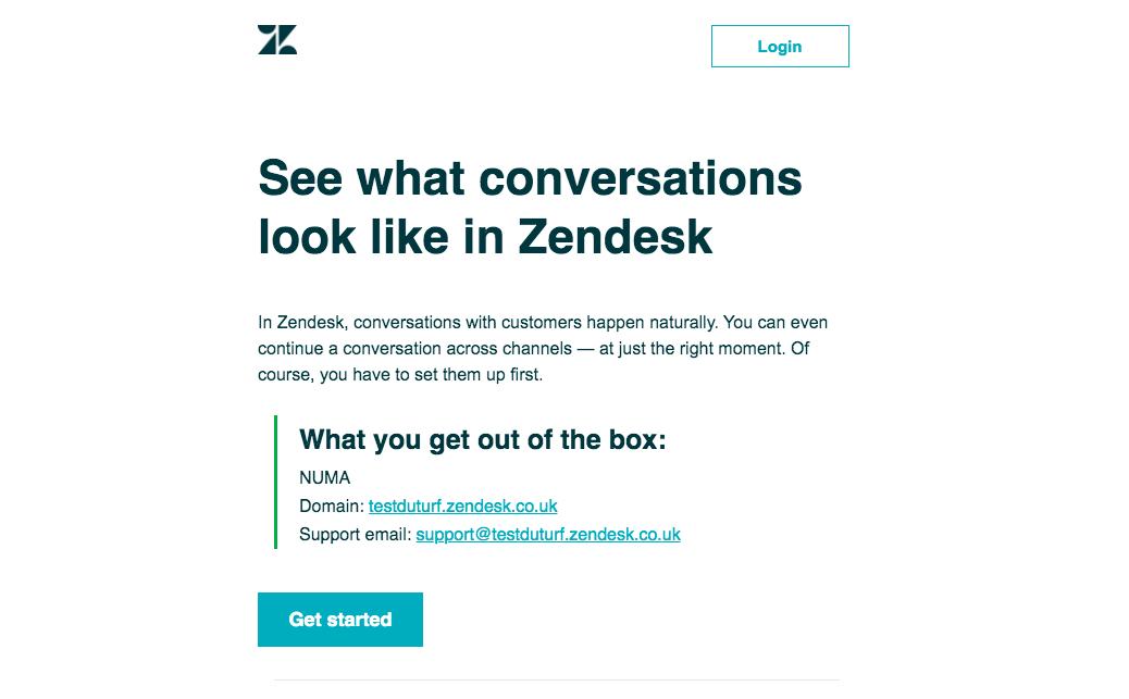 Zendesk Onboarding Emails