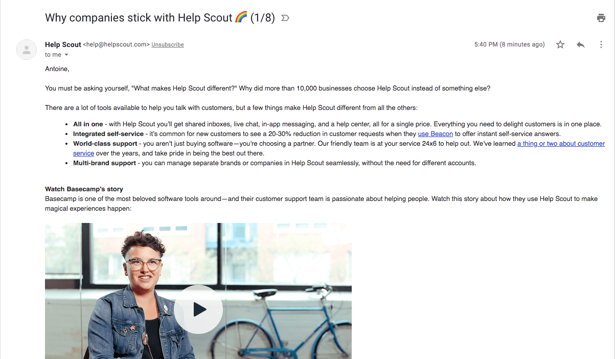 Help Scout Onboarding Emails