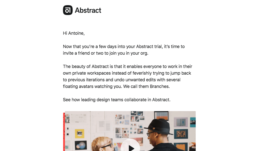 Abstract Invite Your Team Email
