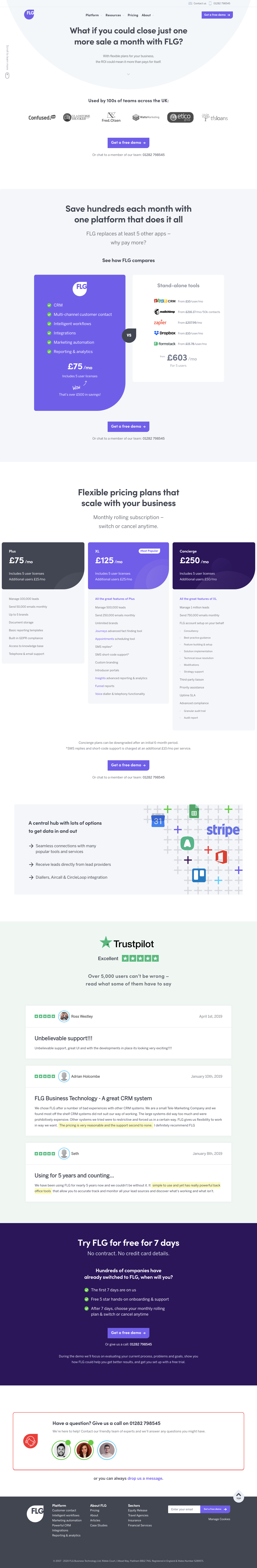FLG Pricing Page