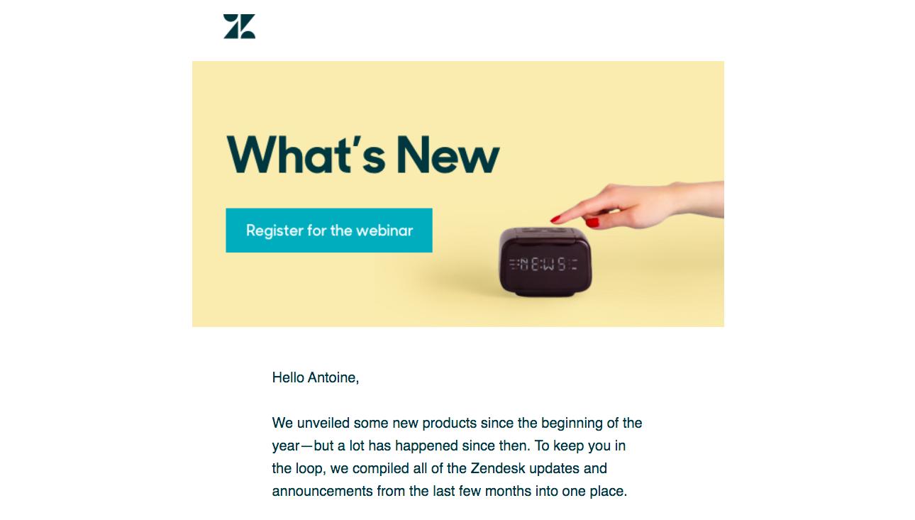 Zendesk Webinars Emails