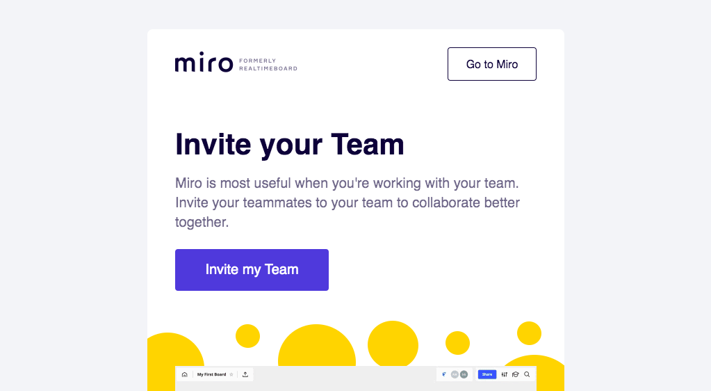 Miro Invite Your Team Email