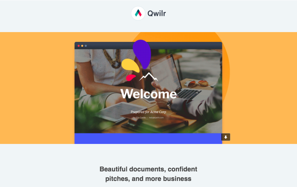 Qwilr Welcome Email