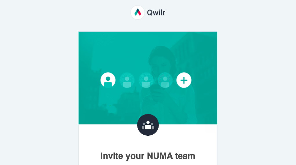 Qwilr Invite Your Team Email