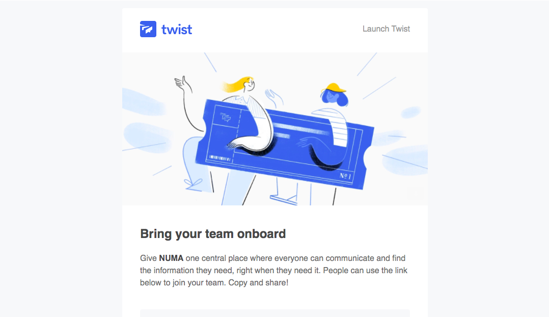 Twist Invite Your Team Emails