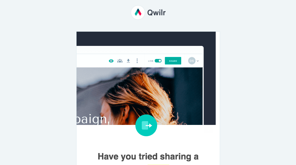 Qwilr Onboarding Email Flow