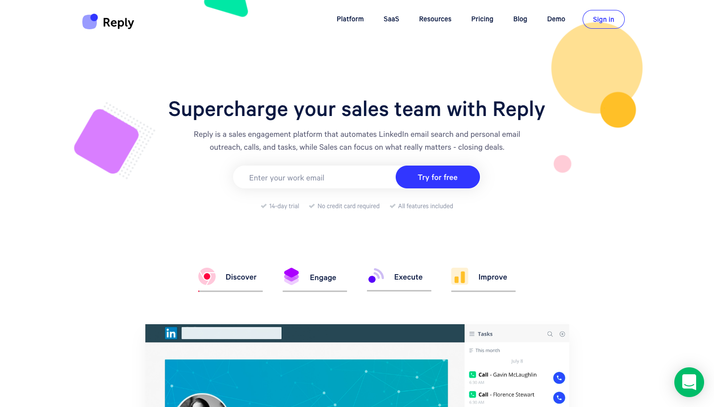 Reply Landing Page