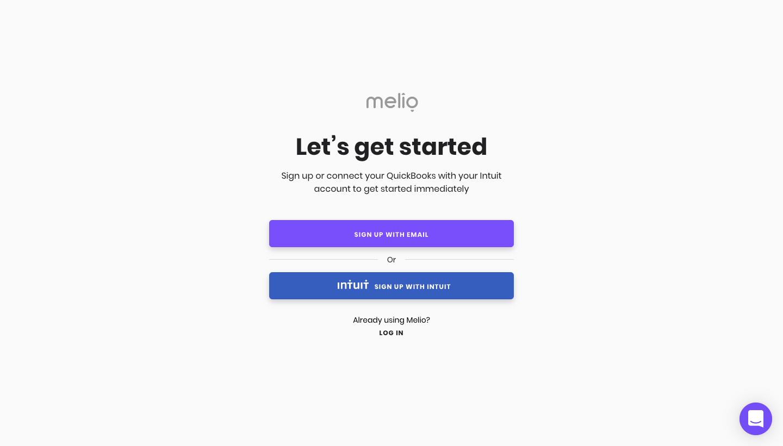 Melio Sign Up Flow