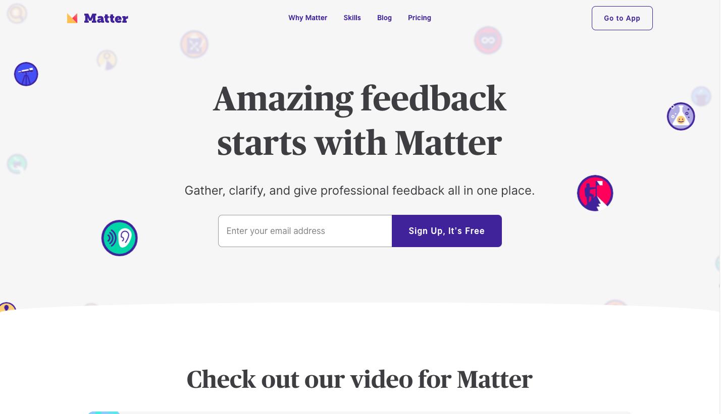 Matter Landing Page