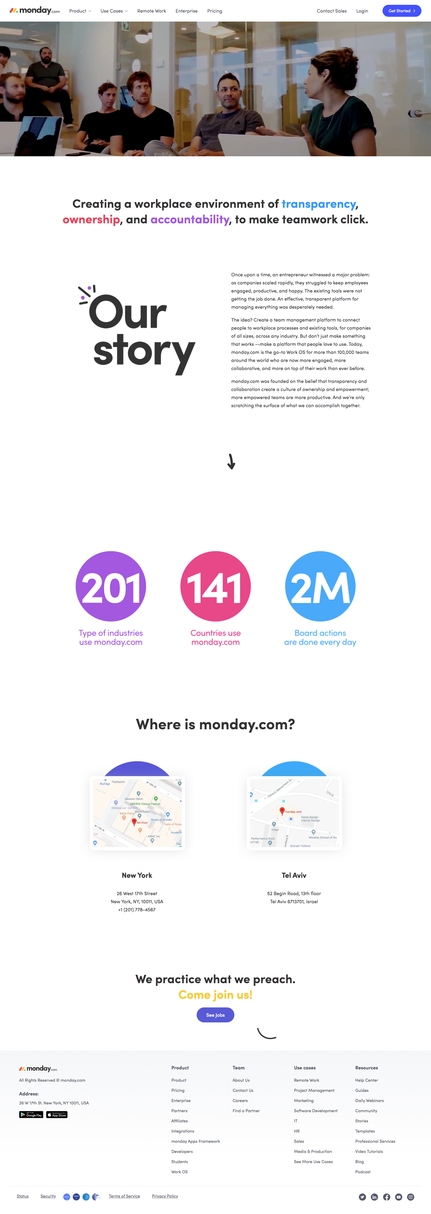 Monday About Page