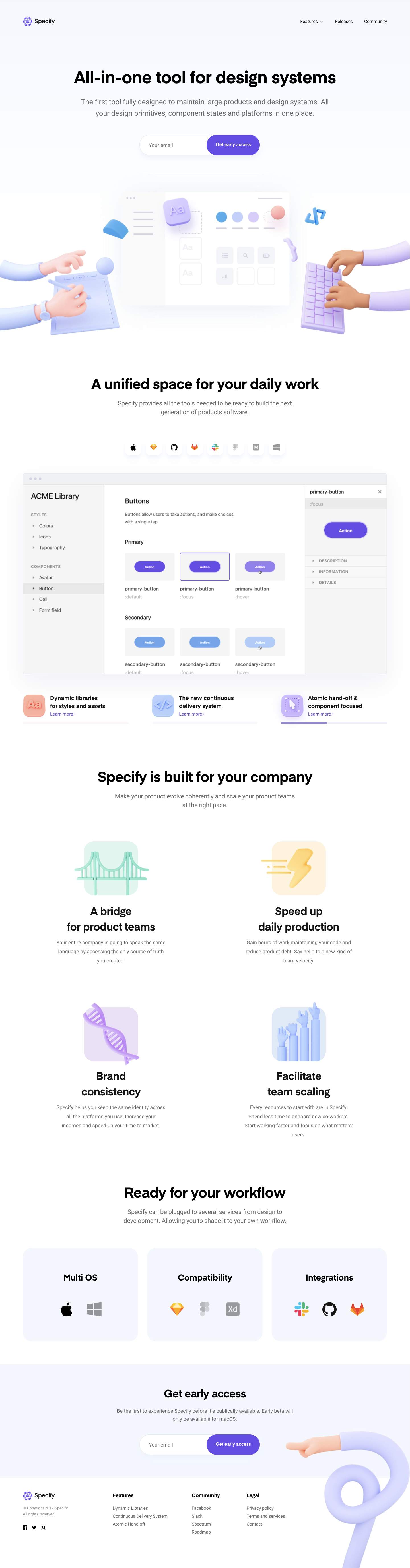 Specify Beta Landing Page