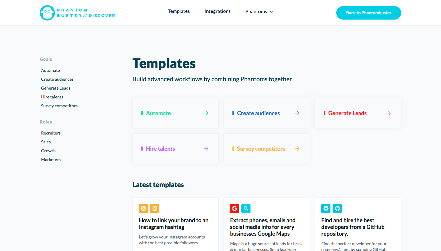 Phantombuster Template Library
