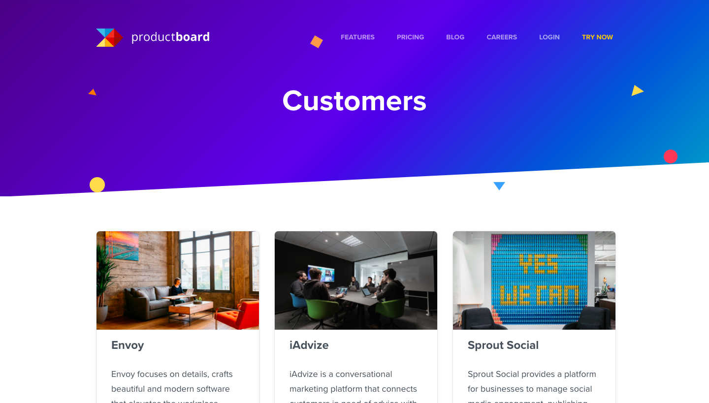 Productboard Customers Page