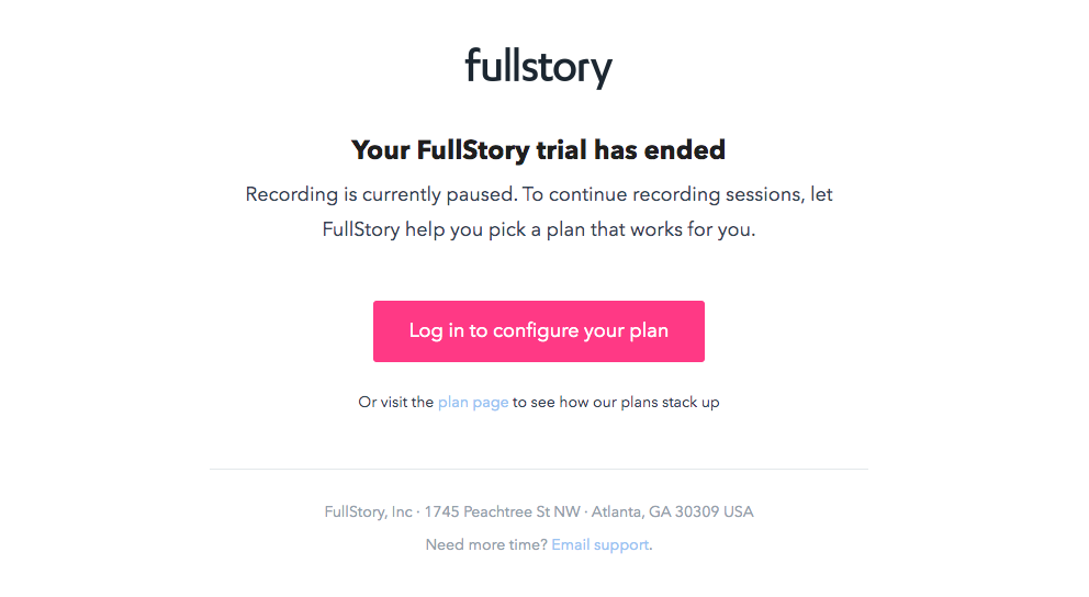 Fullstory Free Trial Emails