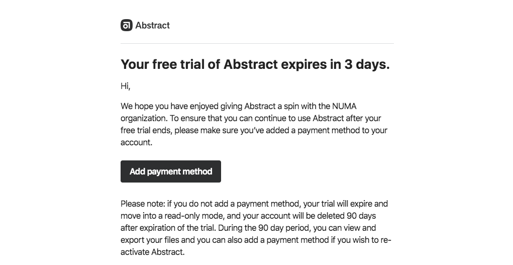 Abstract Free Trial Emails