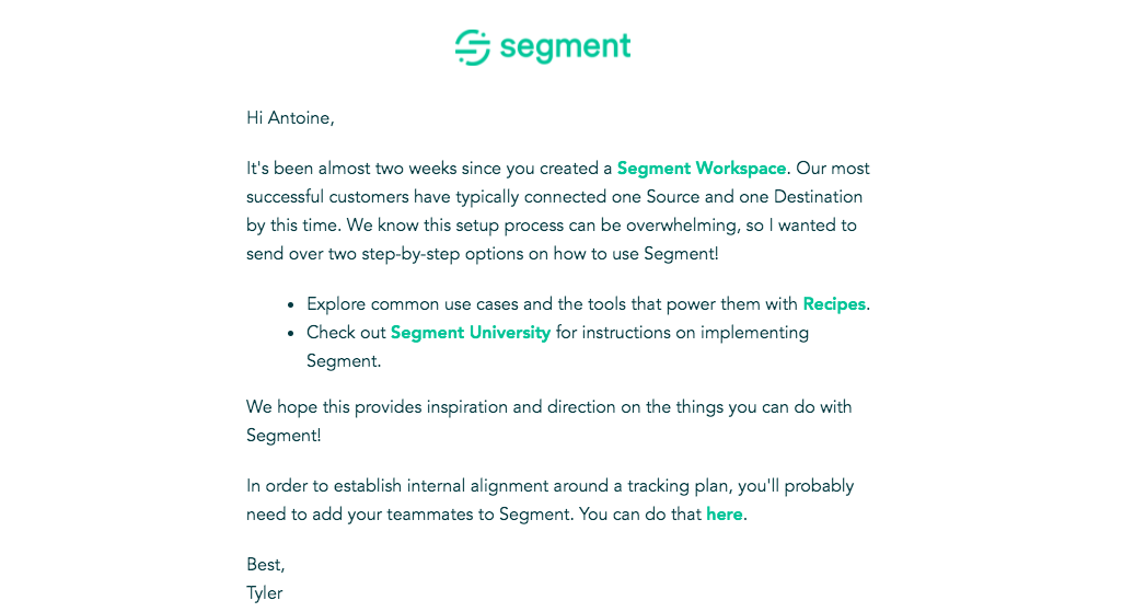 Segment Activation Emails
