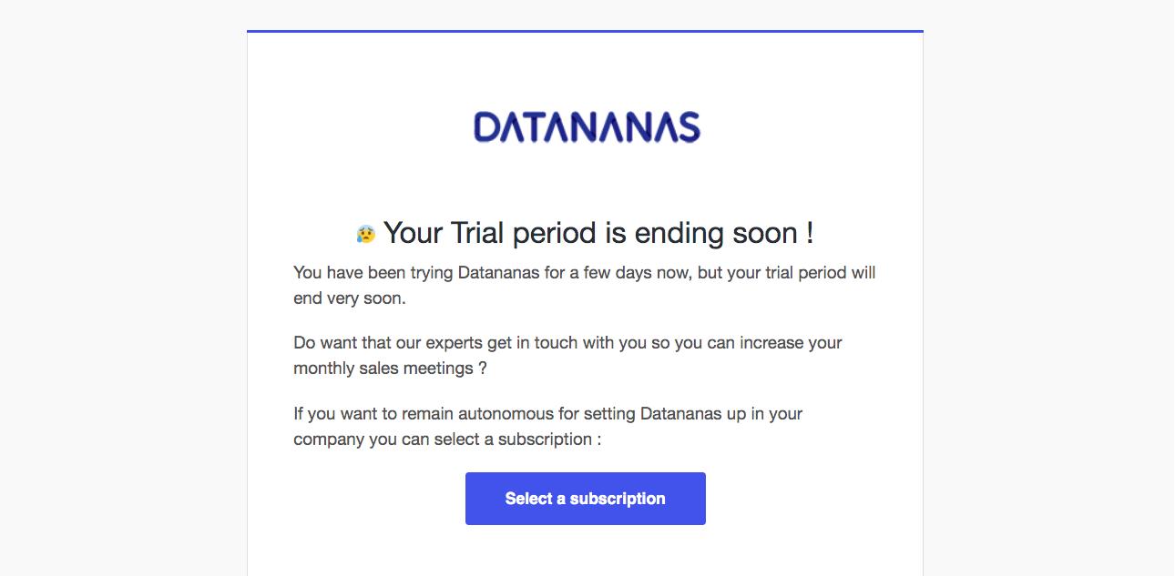 Datananas Free Trial Emails