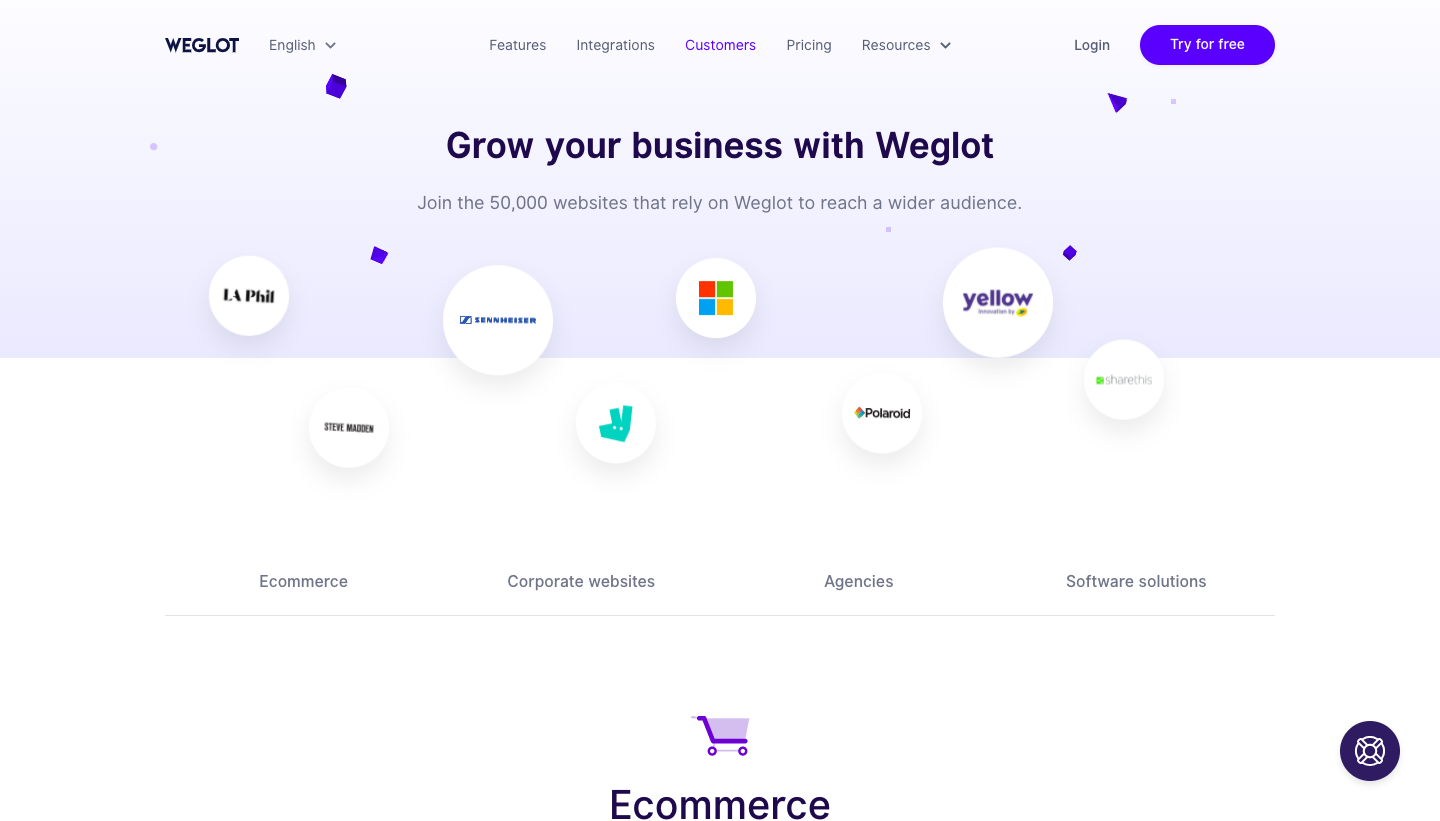Weglot Customers Page