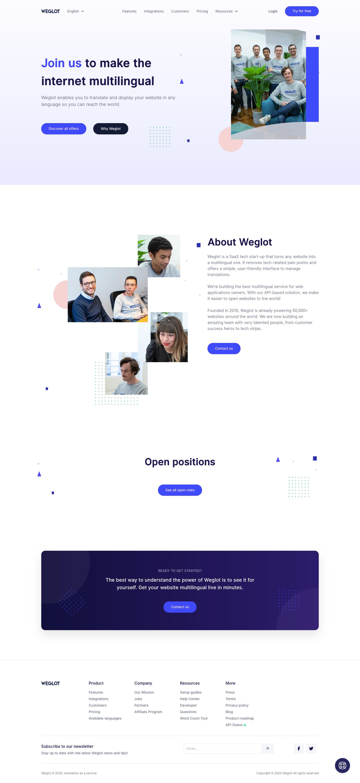 Weglot Careers Page