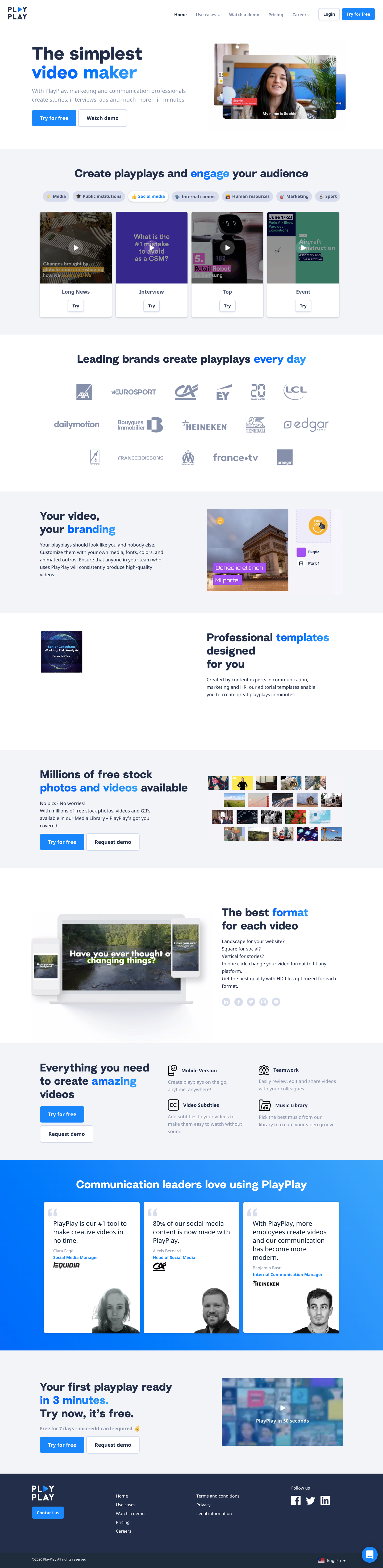 PlayPlay Landing Page