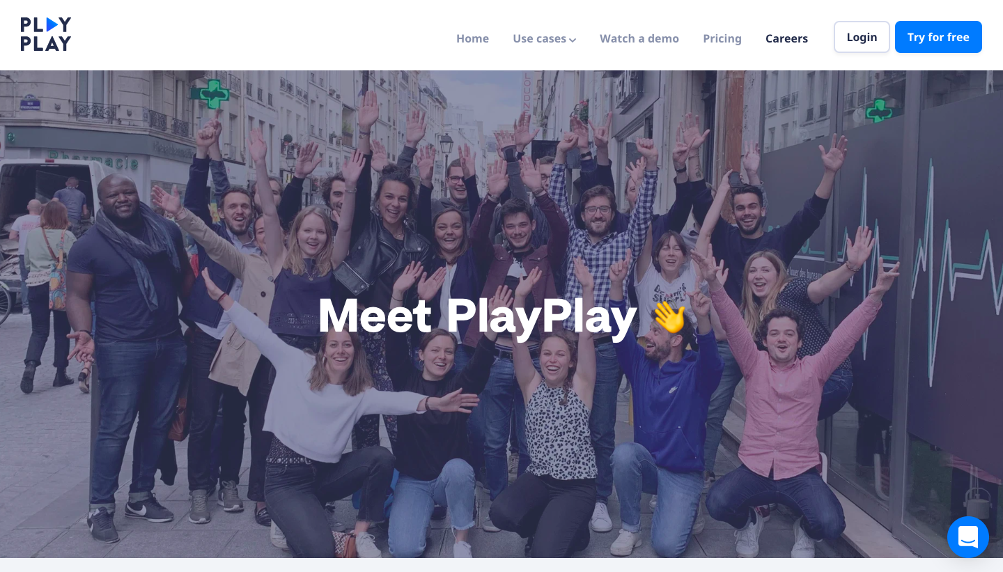 PlayPlay Careers Page