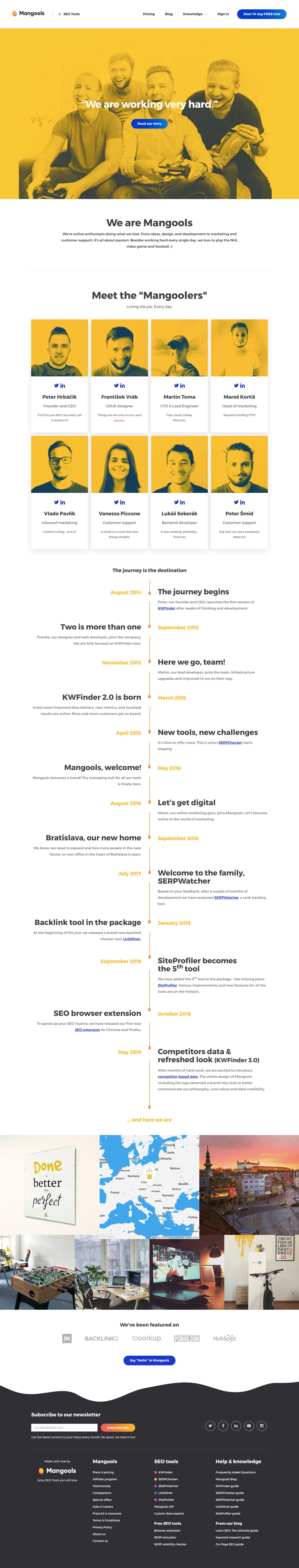 Mangools About Page