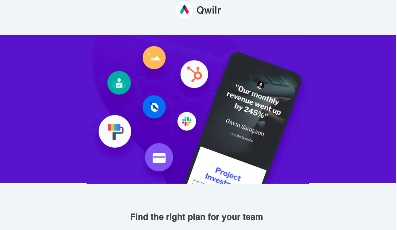 Qwilr Free Trial Emails