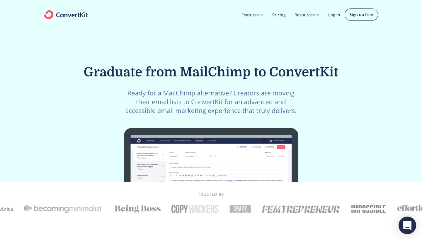 ConvertKit Compared to Mailchimp