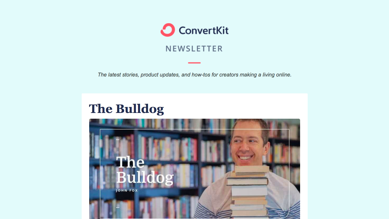 ConvertKit Newsletter