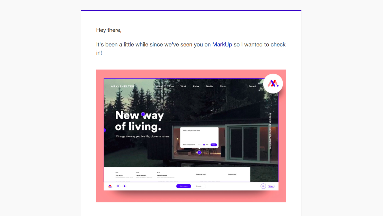 MarkUp Retention Emails