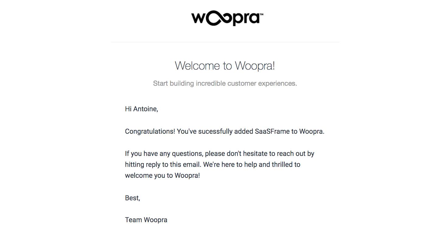 Woopra Onboarding Emails