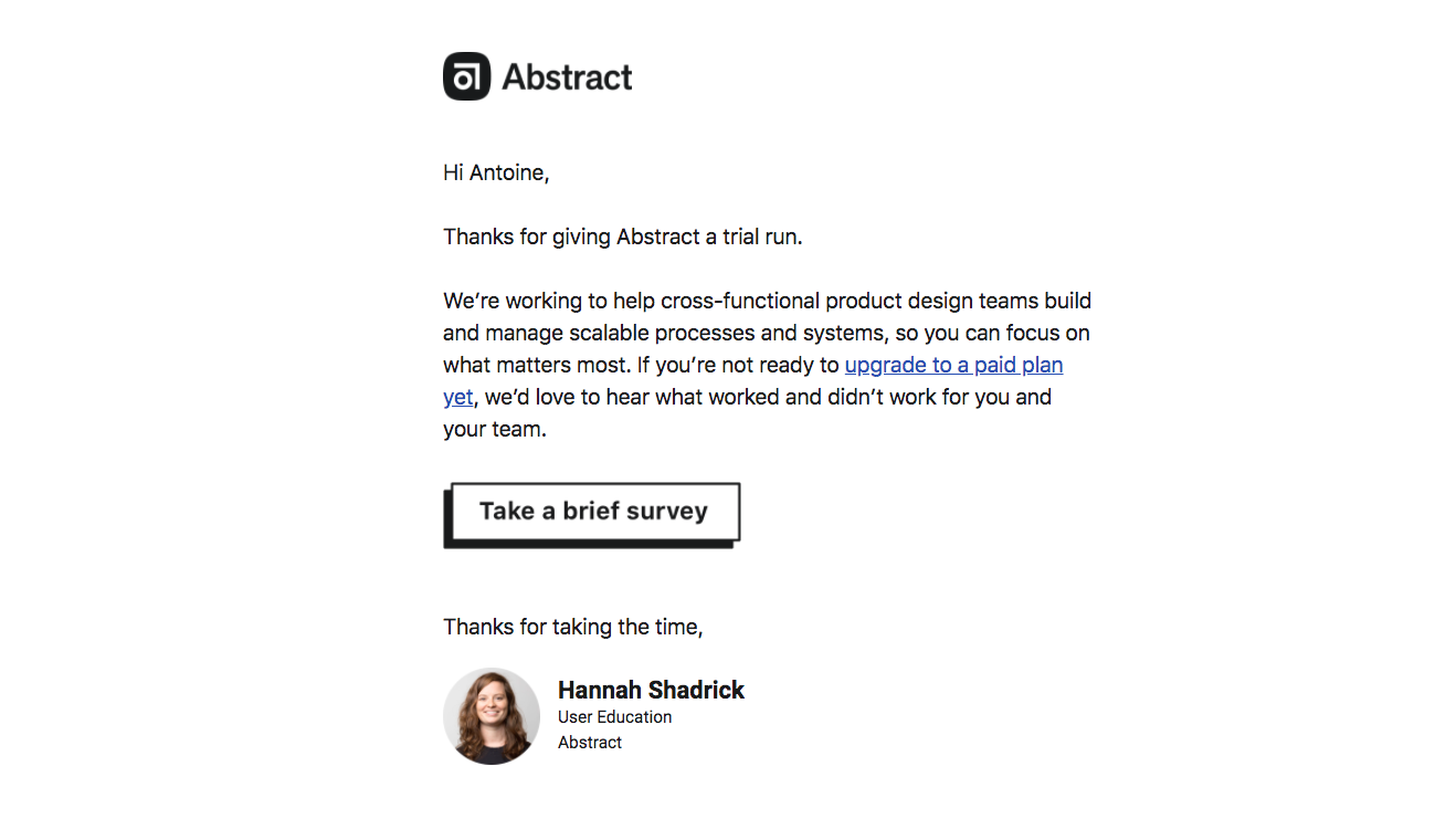 Abstract Survey Emails