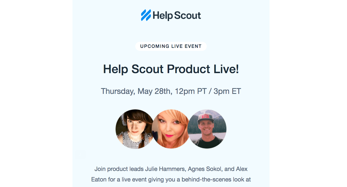 Help Scout Webinars Emails