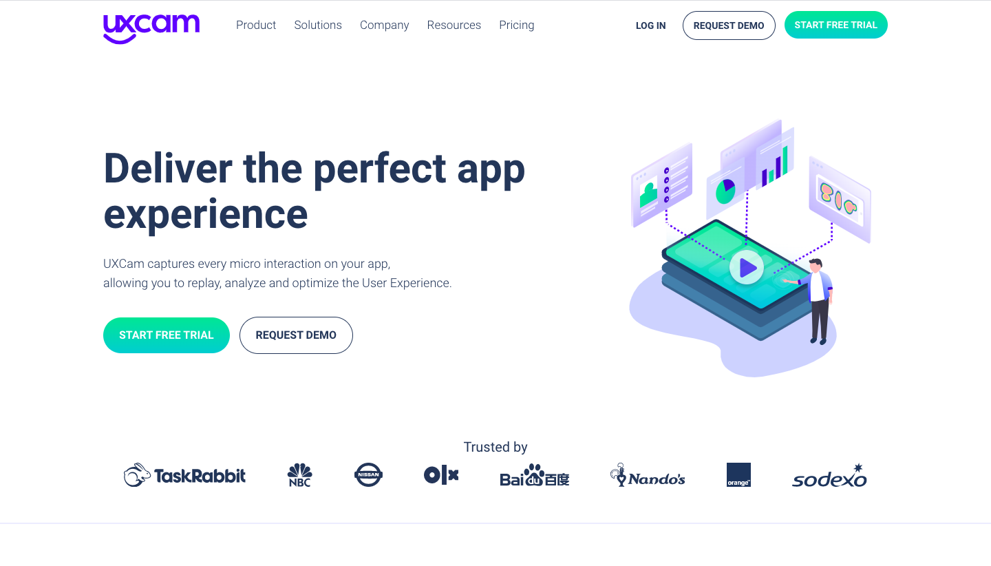 UXCam Landing Page