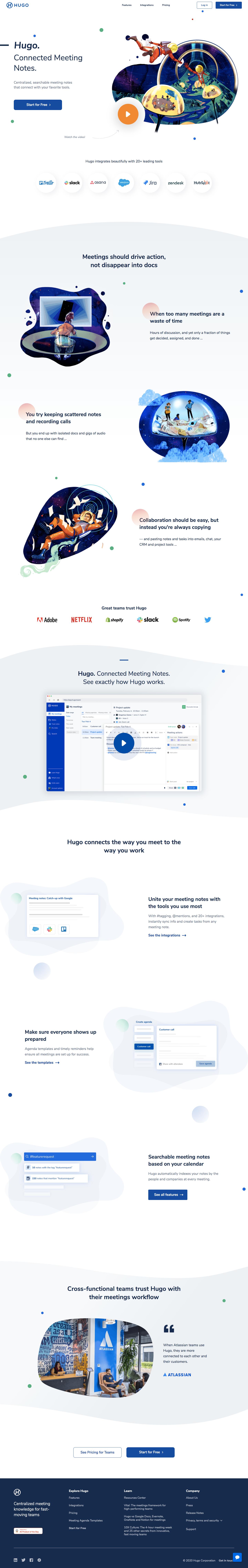 Hugo Landing Page