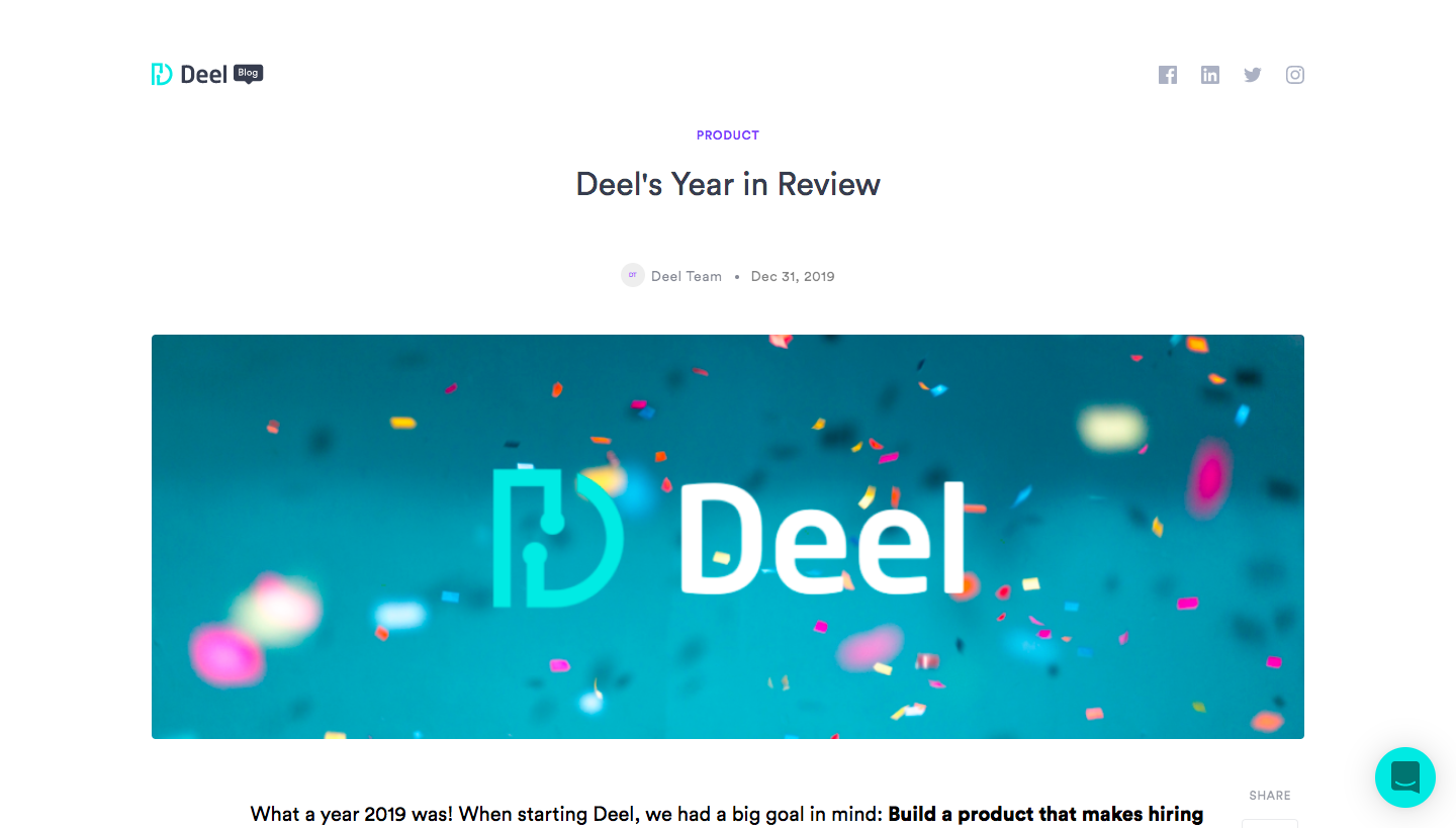 Deel Year Review
