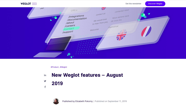 Weglot Product Updates