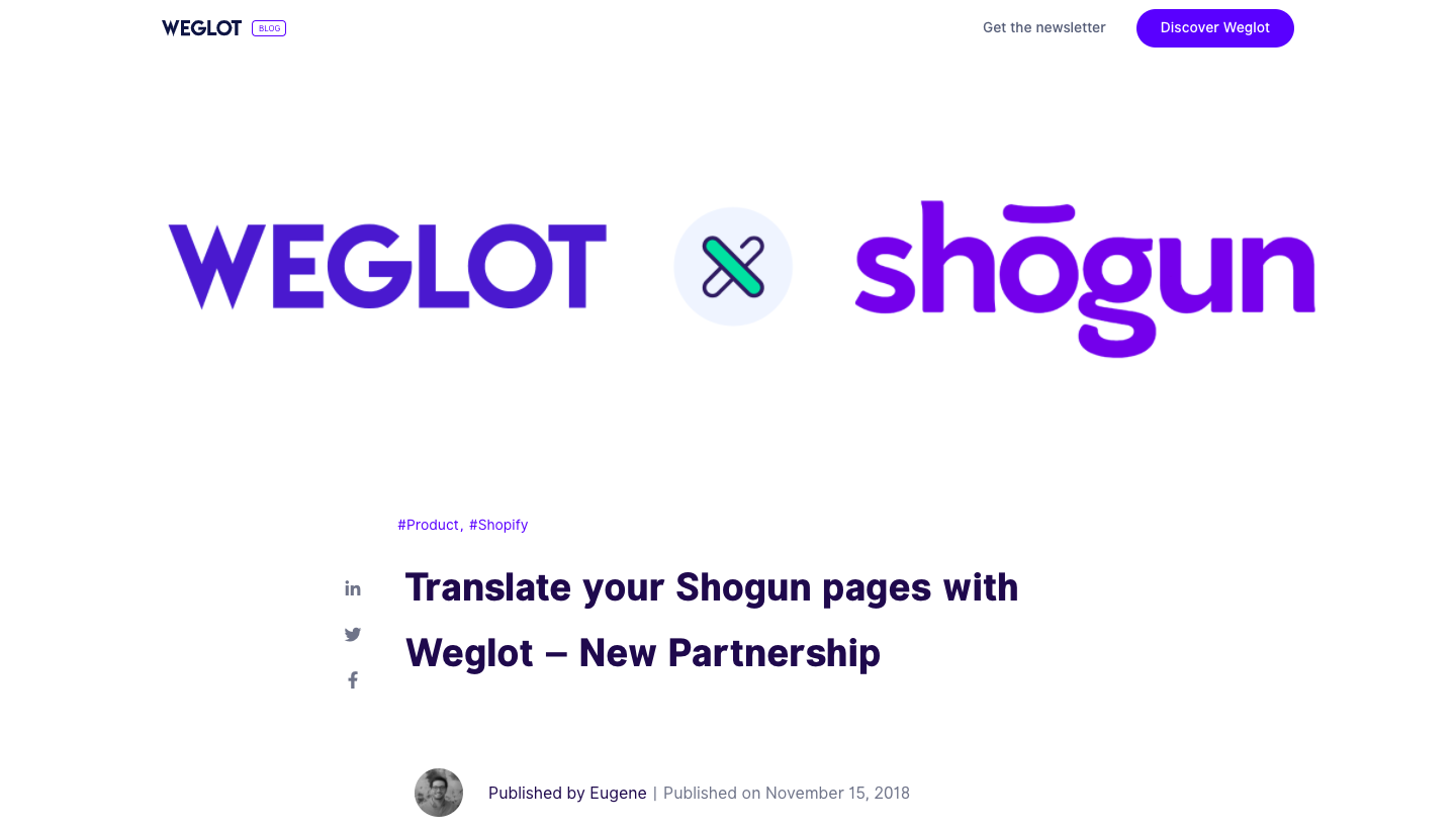 Weglot Partnership Announcement