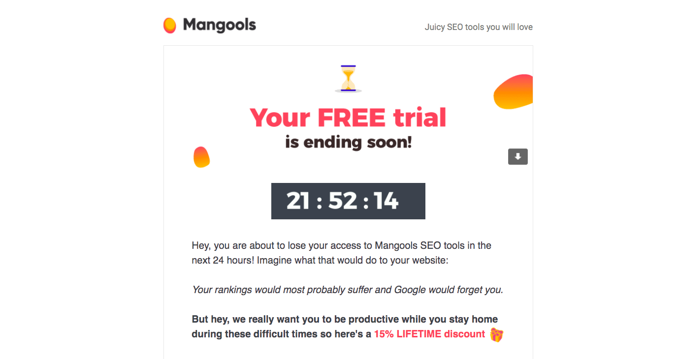 Mangools Free Trial Emails