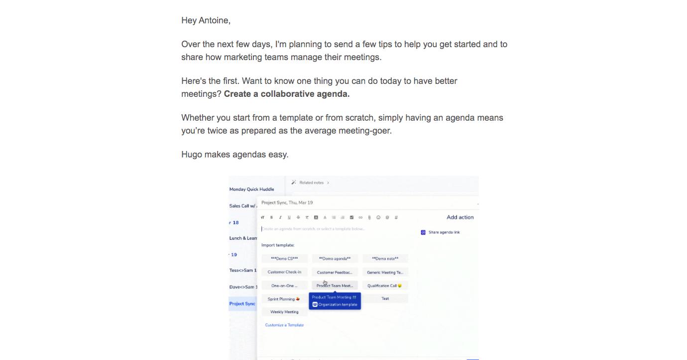 Hugo Onboarding Emails